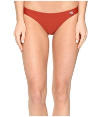 Body Glove Smoothies Basic Bikini Bottom Terracotta Women's Swimwear Orange