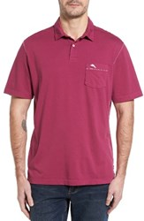 Tommy Bahama Men's Reef Jersey Polo Magenta Rose