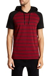Burnside Hooded Short Sleeve Pullover Red