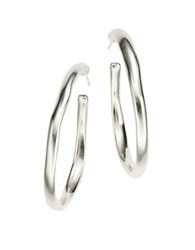 Uno De 50 Ohmmm Hoop Earrings 1.5 In Silver
