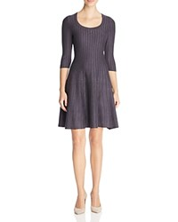 Nic Zoe Ribbed Fit And Flare Dress 100 Bloomingdale's Exclusive Japanese Violet