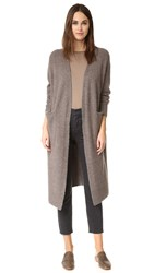 Madewell Long And Lean Cardigan Heather Moose