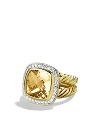 David Yurman Albion Ring With Champagne Citrine And Diamonds In Gold Gold Orange