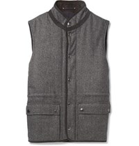 Private White V.C. Herringbone Wool Gilet Gray