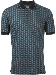 Dolce And Gabbana Owl Print Polo Shirt