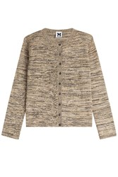 M Missoni Metallic Knit Cardigan Gold