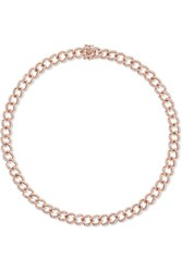 Anita Ko 18 Karat Rose Gold Diamond Choker One Size