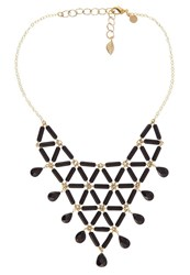 David Aubrey Necklace Goldfarben Schwarz Black
