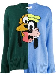 Monse Asymmetric Pluto And Goofy Jumper Blue