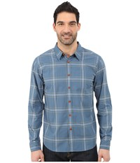 Quiksilver Waterman Bahia Woven Shirt Real Teal Men's Long Sleeve Button Up Blue