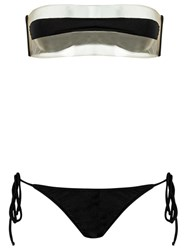 Adriana Degreas Sheer Bikini Set Black