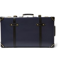 Globe Trotter Spectre 30 Leather Trimmed Suitcase Navy
