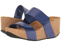 Eric Michael Joan Blue Women's Wedge Shoes