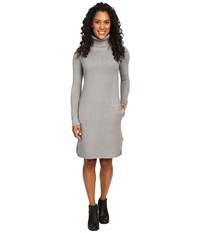 United By Blue Luna Waffle Sweater Dress Grey Women's Dress Gray