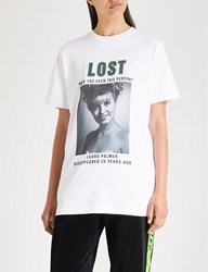 Wasted Paris Lost Palmer Cotton Jersey T Shirt White