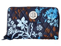 Vera Bradley Turn Lock Wallet Java Floral Clutch Handbags Black