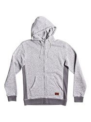 Quiksilver Men's Keller Zip Up Fleece Hoodie Grey
