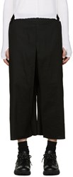 Thamanyah Black Wide Leg Trousers