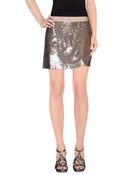 Beayukmui Skirts Mini Skirts Women Silver