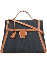 Myriam Schaefer Medium 'Baby Byron' Tote Blue