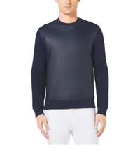 Michael Kors Leather Front Crewneck Sweater Indigo