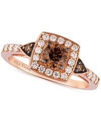 Le Vian Chocolatier Chocolate Diamond And White Diamond Ring In 14K Rose Gold 7 8 Ct. T.W.