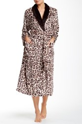 Natori Leopard Robe Brown