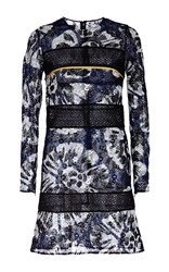 Burberry Digital Tie Dye Macrame Shift Dress Print