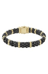 Lagos Gold And Black Caviar Station Bracelet Gold Black