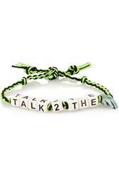 Finds Talk To The Hand Ceramic And Gunmetal Plated Bracelet Green