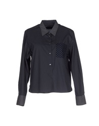 Mauro Grifoni Shirts Dark Blue