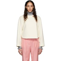 Chloe Off White Wool Cropped Jacket