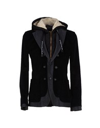 Frankie Morello Coats And Jackets Jackets Men Black
