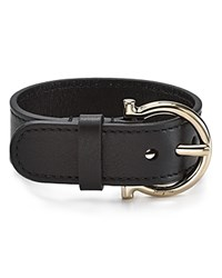 Salvatore Ferragamo Leather Gancini Buckle Cuff