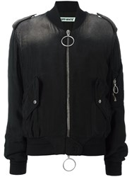 Off White Padded Zipped Pockets Jacket Black
