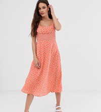 Cleobella Exclusive Melody Midi Dress With Cinched Waist Pink