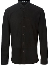 Blk Dnm Leather Band Shirt Black