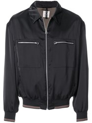 Santoni Zip Pocket Bomber Jacket Black