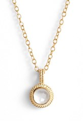 Anna Beck Women's Semiprecious Stone Round Drop Pendant Necklace