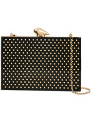 Kotur Embellished Clutch Women Plexiglass Metal One Size Black