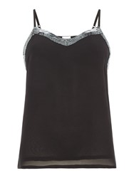 Linea Karen Embellished Neckline Top Black