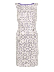 Gina Bacconi Daisy Embroidered Organza Dress Lilac