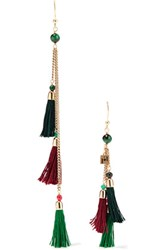 Rosantica Gold Tone Stone And Tassel Earrings One Size