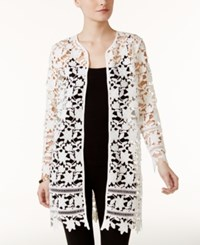 Alfani Lace Open Front Jacket Only At Macy's Soft White