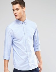 Tommy Hilfiger Oxford Shirt In New York Regular Fit In Blue Blue
