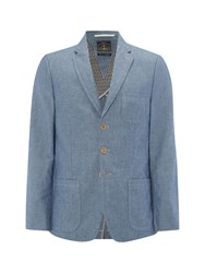 White Stuff Musi Stripe Linen Blazer Blue