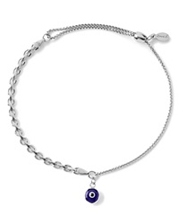 Alex And Ani Precious Metals Evil Eye Track Pull Chain Bracelet Sterling Silver