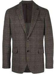Hackett Plaid Blazer Brown