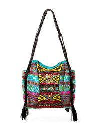 Big Buddha Briella Embroidered Shoulder Bag