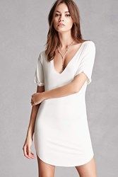 Forever 21 Raw Cut Jersey Knit Dress